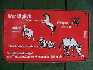 Unser Sattelkammer-Schild  ! *g*