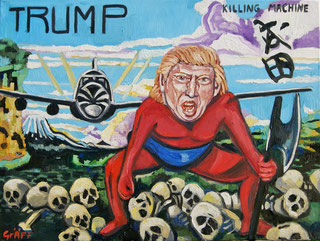 Matthias Laurenz Gräff, Trump. the Killing Machine, Political activism
