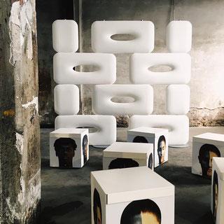 Lyxo raumteiler aus kunsstoff polyethylen