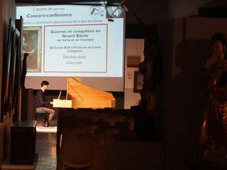Takahisa Aïda en répétition au Musée d'Abbeville / Photo Facebook Musée