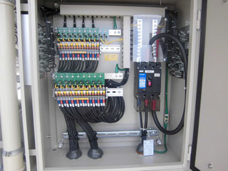 The Connection Box - where the wires are designed in series in order to achieve the desired output voltage or desired capacity.