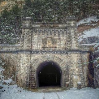 Tunel ferroviario de Canfranc.