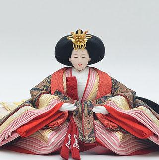 優香作「親王飾り」帯鈎文錦 女雛(京十二)