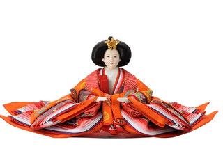 優香作「親王飾り」 女雛(京十)