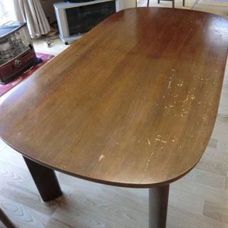 テーブル塗替