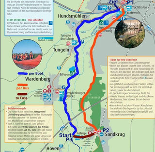 Flusskarte für die Hunte zwischen Astrup und Oldenburg