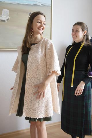 Jennifer Klein Couture elegantes Abendkleid Seide Eveningwear Silk