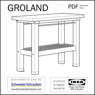 GROLAND Anleitung manual IKEA Arbeitstisch