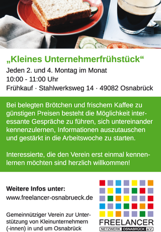 Anzeige - Freelancer Netzwerk Osnabrück