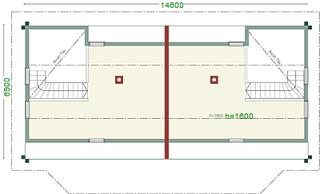 Doppelhaus - Blockhaus - Schlafboden für Enkelkinder