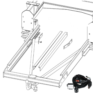 Anhängerkupplung Varaibel 12,5 kN inkl. Rahmenverlängerung Normal Citroen Jumper Bj. 2006 bis 2001 und Elektrokabelsatz für Ihr Wohnmobil / Reisemobil
