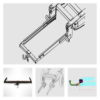 Anhängerkupplung Variabel 12,5 kN inkl. Rahmenverlängerung Ford Transit FT350 Normal ab Bj. 2000 für Ihr Wohnmobil / Reisemobil