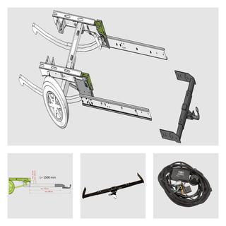 Anhängerkupplung inkl. Rahmenverlängerung Normal Fiat Ducato ZFA250 und Elektrokabelsatz für Ihr Wohnmobil / Reisemobil