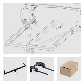 Anhängerkupplung Varaibel 12,5 kN inkl. Rahmenverlängerung Normal Citroen Jumper Bj. 2001 bis 1994 und Elektrokabelsatz für Ihr Wohnmobil / Reisemobil