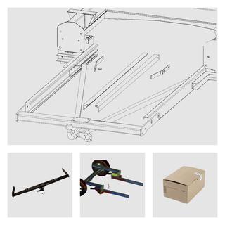 Anhängerkupplung Varaibel 12,5 kN     inkl. Rahmenverlängerung Fiat Ducato Flachboden ZFA244 und Elektrokabelsatz für Ihr Wohnmobil / Reisemobil