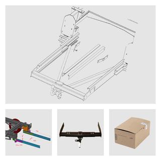 Anhängerkupplung Variabel 12,5 kN inkl. Rahmenverlängerung Peugeot J5 und Elektrokabelsatz für Ihr Wohnmobil / Reisemobil