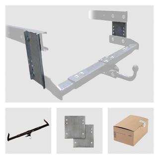 Anhängerkupplung Varaibel 12,5 kN inkl. Rasterplatten und Elektrokabelsatz Peugeot J5 für Ihr Wohnmobil / Reisemobil
