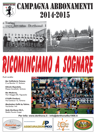Campagna Abbonamenti Derthona 2014-15