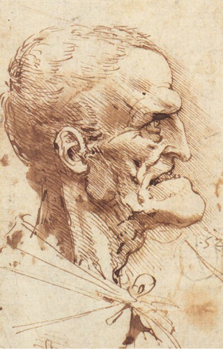 karikatuur Leonardo de Vinci