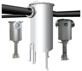 Desulfuración del biogás, Filtros de biogás - Limpieza de biogás - Filtros para reducción de H2S y condensados en el biogas - Filtros  de remoción de condensados, espumas y partículas flotantes