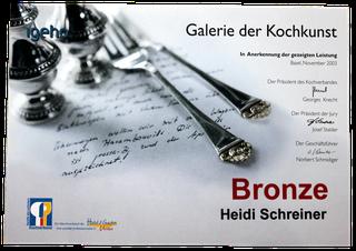 Auszeichnung Bronze