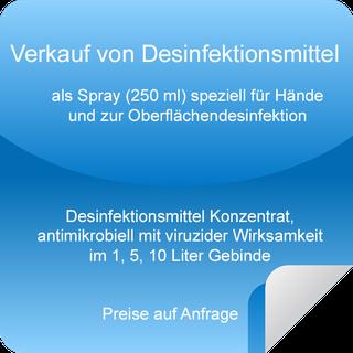 Verkauf von Desinfektionsmittel Bonn, Königswinter, Bad Honnef