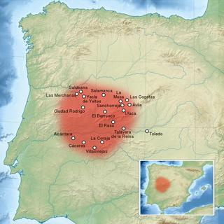 Mapa del territorio y principales ciudades de los Vetones en la península Ibérica/ Wikipedia