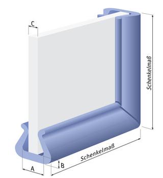 Eckenschutz Kantenschutz Ecke für alle Platten und Scheiben PE-Schaum transportsolution