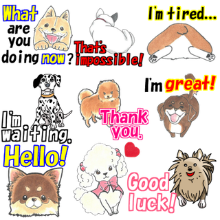 line sticker dog dogs puppy paw