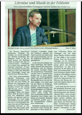 Bernhard Straßer liest auf den Chiemgauer Kulturtagen