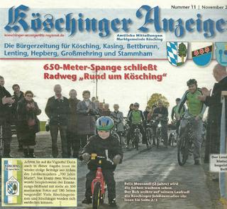 Köschinger Anzeiger, Nov. 2010