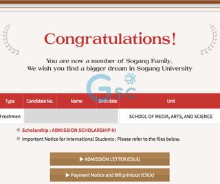 Sinh viên Gsc - Trà được học bổng 25% của Sogang