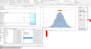 MC FLO Monte Carlo Simulation Excel time series fitting