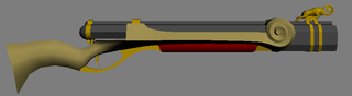 Lowpoly model of a double barrel rifle