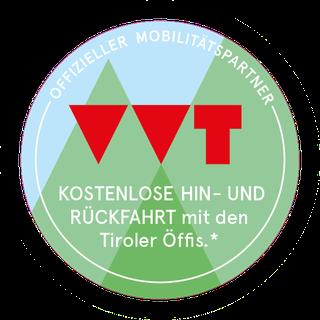 Kostenlose Anreise mit Tiroler Öffis des VVT