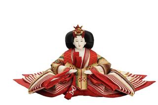 優香作「親王飾り」花文暈繝錦 女雛(京十一)