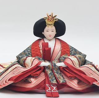 優香作「親王飾り」花鳥梅花文錦 女雛(京十一)