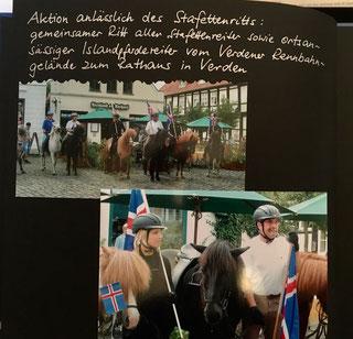 Islandpferdereiter vor dem Verdener Rathaus (Foto:RR)