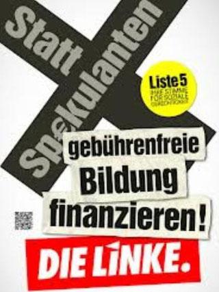 "Valgplakat fra ""Die Linke"""