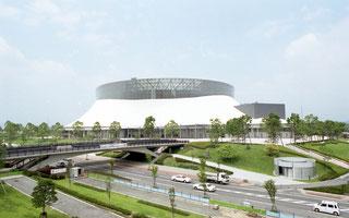 日本代表戦が行われるパークドーム熊本(熊本国際スポーツ大会推進事務局提供)
