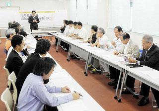 全早慶戦実行委員会が設立された=市中央運動公園野球場会議室