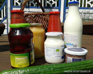 Plastik vermeiden, Plastik reduzieren, Produkte im Glas, Kraftquelle, Einmachen
