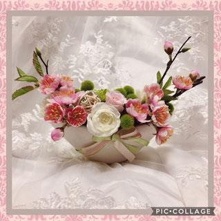 #新春#を彩る#春のアレンジメント#名古屋お花レッスン#名古屋和風フラワーレッスン#名古屋プリザーブドフラワー#名古屋手作り体験(ワークショップ)#名古屋手作り体験