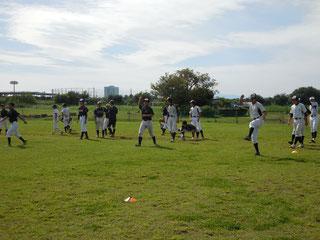 多摩川練習