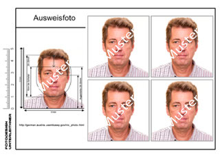 Passfoto, Ausweisfoto nach EU, Visum