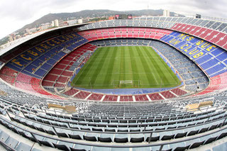 Das Stadion Camp Nou in Barcelona