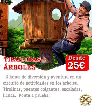 circuito de actividades en los arboles en Córdoba