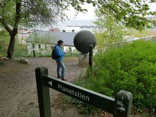 Start des Planetenweg in Lemwig/Dänemark mit der Sonne