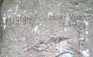 Gravour im Bismarckstein