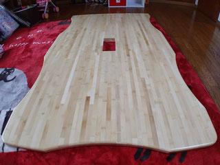 竹(白)集成材のテーブル天板